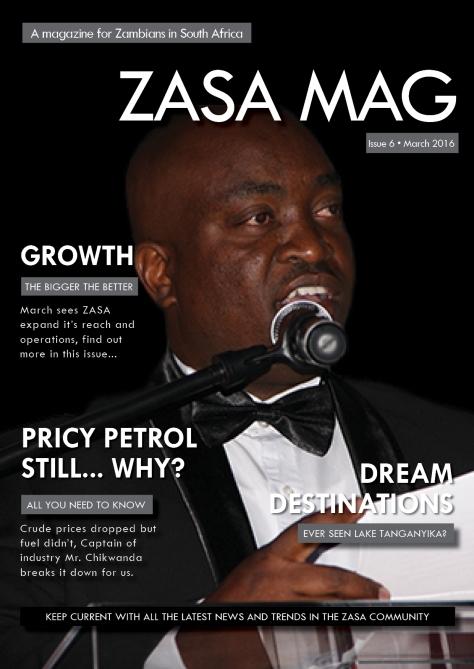 ZASA Magazine - Issue 6 - March 2016_Cover