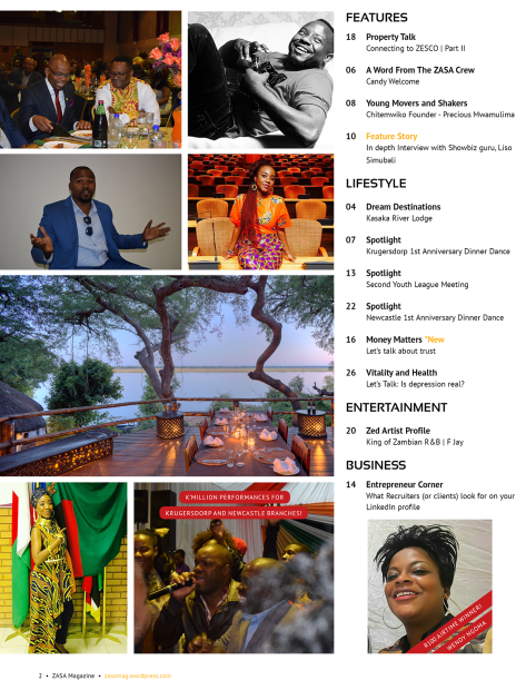 ZASA Magazine - Issue 21 - June 2017_Content
