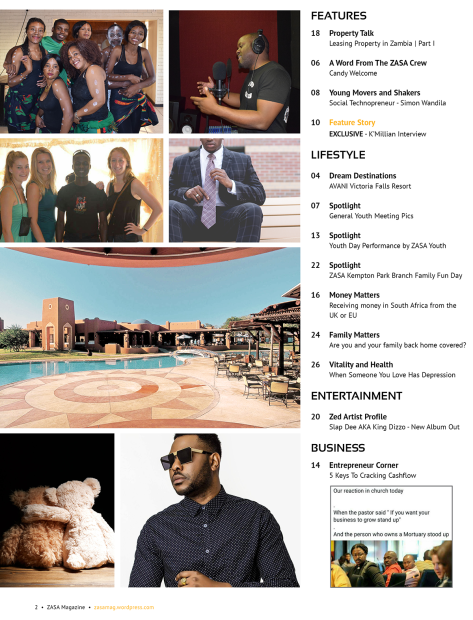 ZASA Magazine - Issue 22 - July 2017_Content